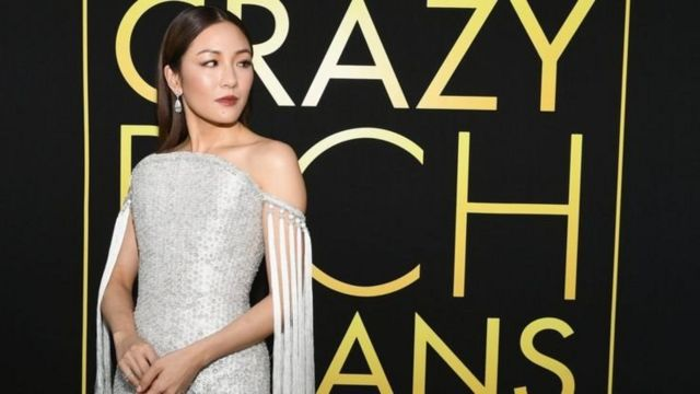 Constance Wu at the premiere of the movie Crazy Rich Asians