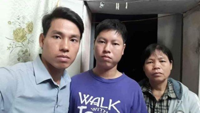 Trịnh Bá Tư (trái), Trịnh Bá Phương, Cấn Thị Thêu
