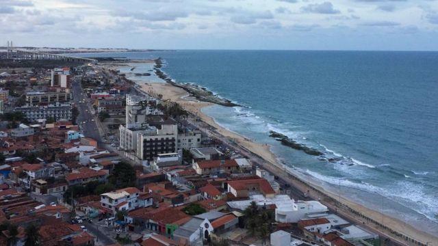 Vista da praia dos Artistas em Natal