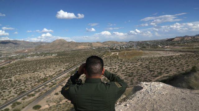 دورية لحري الحدود على الحدود الأمريكية المكسيكية