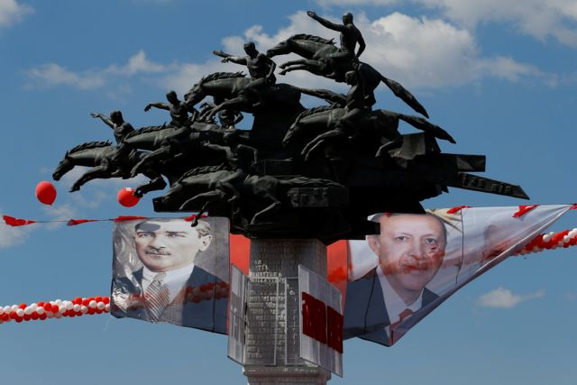 مصطفی کمال آتاتورک و رجب طیب اردوغان