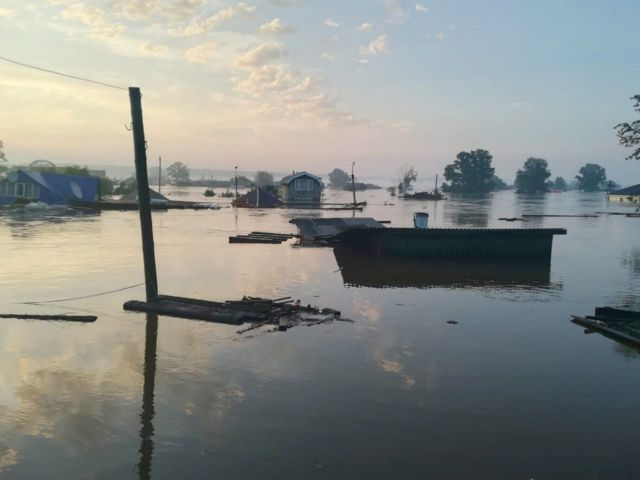 В городе Тулун после паводка