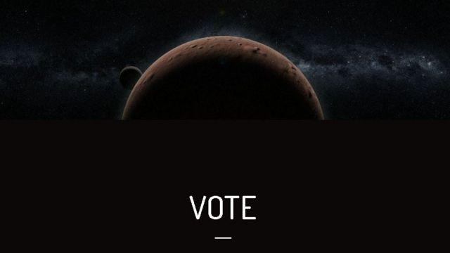 Reprodução do site da votação
