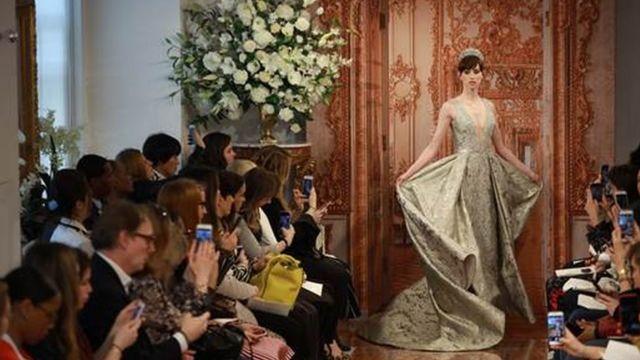Theia's concept of a royal wedding dress