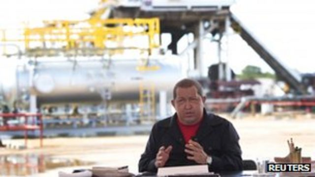 Chávez em um de seus programas Alô, Presidente