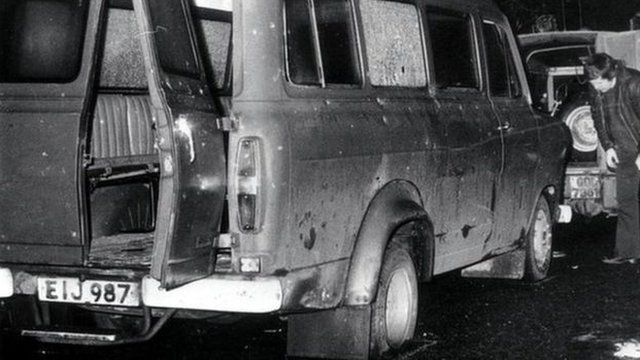 Ten protestant workmen were shot by an IRA gang in the massacre