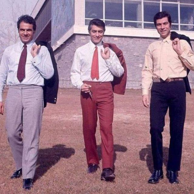 ناصر ملک مطیعی به همراه بهروزوثوقی (سمت راست) و محمد علی فردین ( وسط)