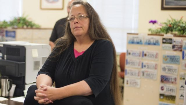 Kentucky clerk jailed for defying court orders on gay marriage