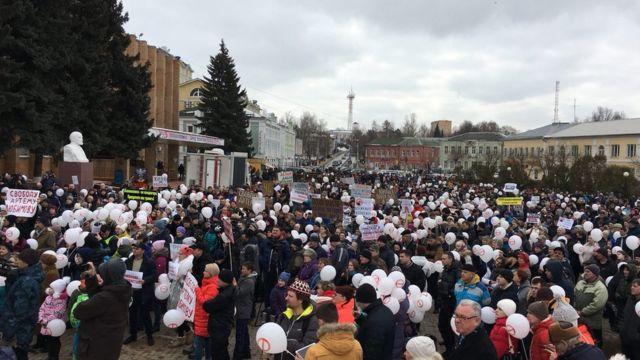Митинг в Волоколамске