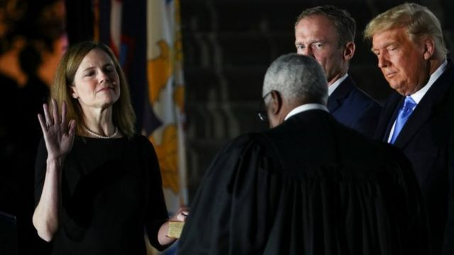 Amy Coney Barrett sworn in as Supreme Court Justice