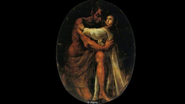 Santa Rosa tentada pelo demônio' - 1695
