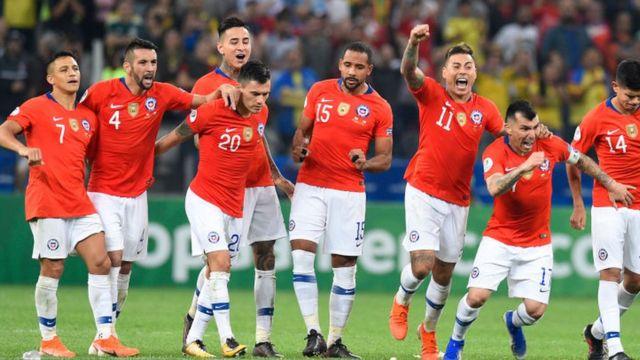 Chilean soccer team in 2019.