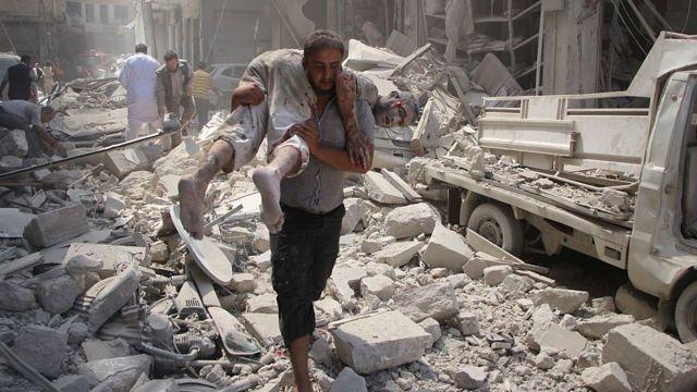 Идлиб после воздушного удара (сентябрь, 2016 год)
