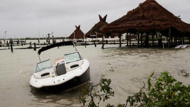 Inundaciones en Cancún.