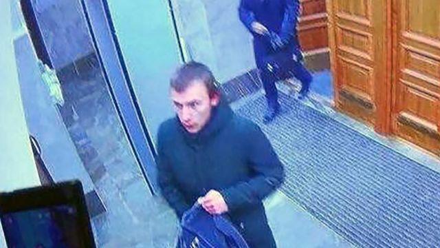 Кадр с камер наблюдения в здании управления ФСБ по Архангельской области