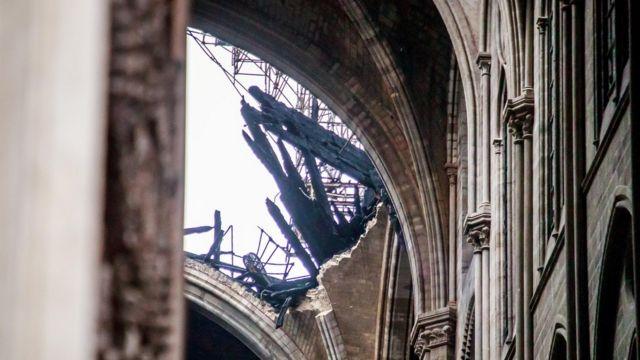 Pictures of Notre Dame after a devastating fire in April 2019