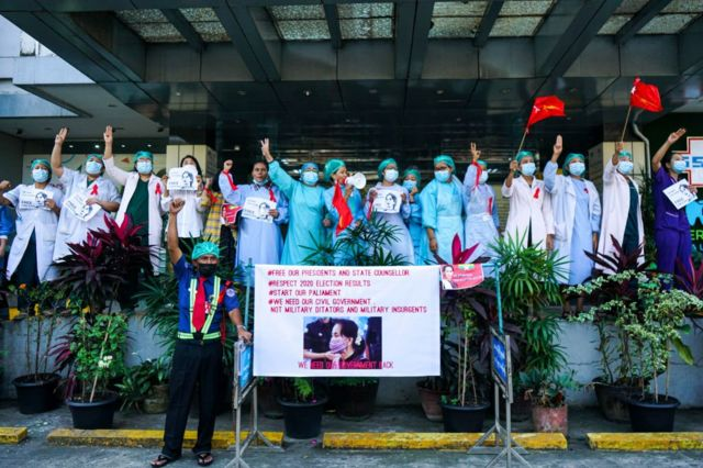 Health workers across the country have joined the Civil Disobedience Movement since February.