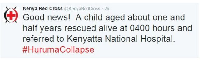 Kenya Red Cross tweet