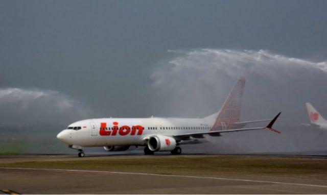 Boeing 737 Max 8, salah satu model terbaru Boeing, saat baru diserahterimakan ke Lion Air.