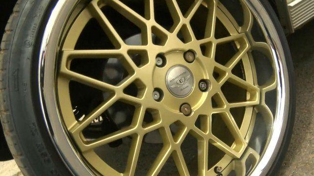 A customised car wheel