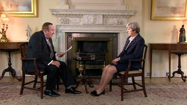 Theresa May and Andrew Neil