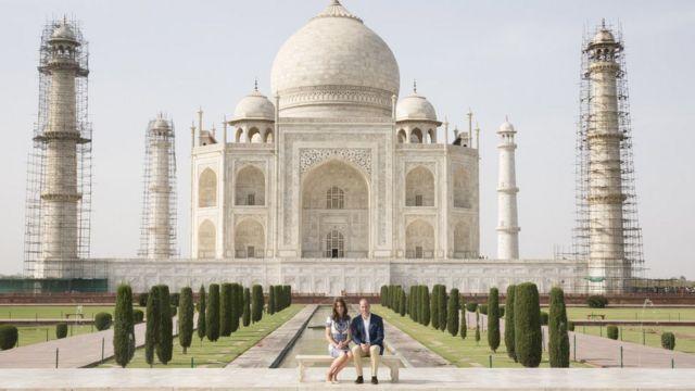 William y Kate en Taj Mahal