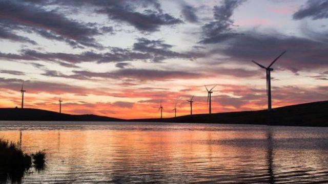 produção de energia eólica