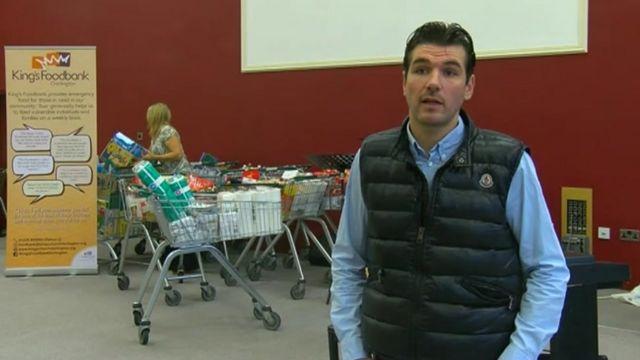 Facebook 'Food bank challenge' fills trolleys across England