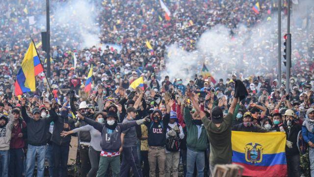 Protestas en Quito, 11 de octubre de 2019