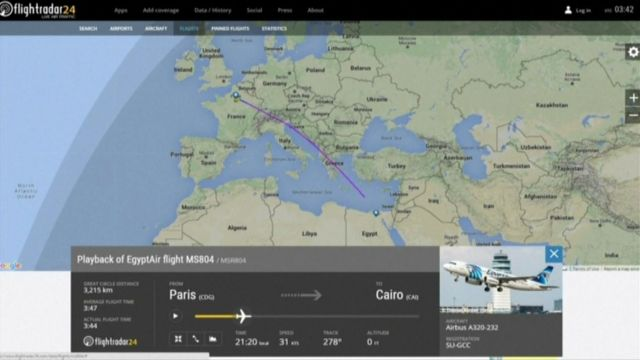 Image of a flight path screen