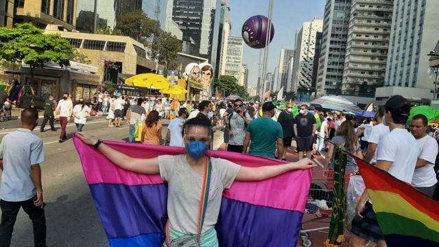 Manifestante Luisa Furtado na Paulista