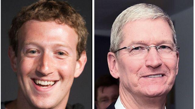 Zuckerberg ve Cook