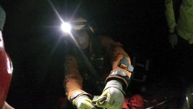 Brecon Mountain Search and Rescue Team save an injured mountain biker