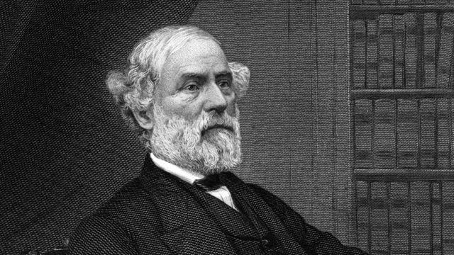 Grabado de Robert E Lee