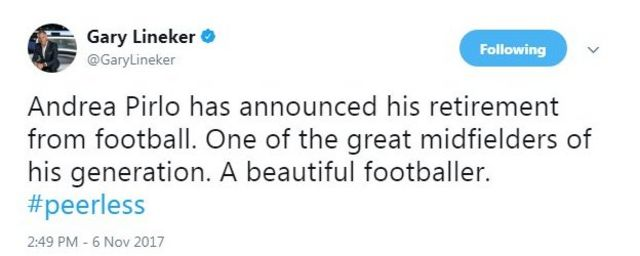 Gary Lineker on Twitter