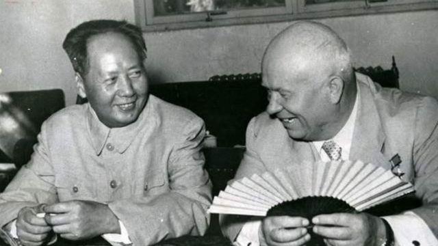 毛泽东和苏联领导人赫鲁晓夫