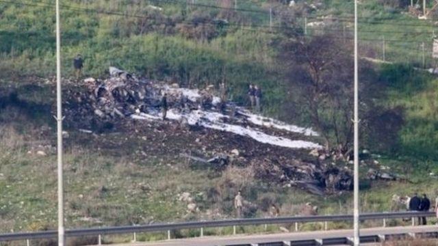 جنگنده ساقط شده اسرائیلی
