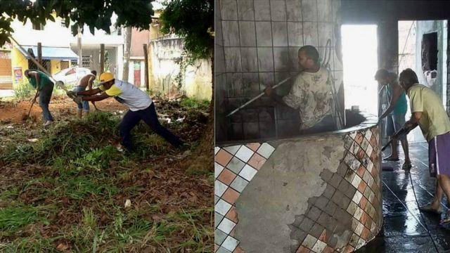 Moradores fazem multirão de limpeza