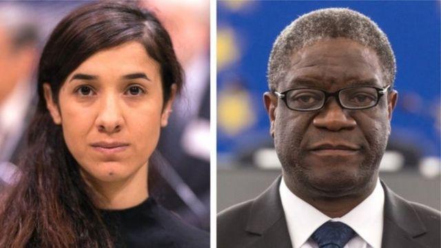 Nobel Peace Price Winners Nadia Murad and Denis Mukwege