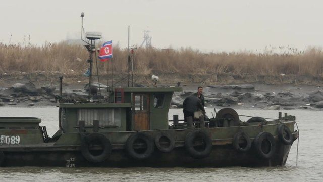 North Korean barge