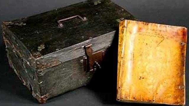 17世纪英国一本据信是用人皮做封面的书,死者是一个因叛国罪被处死的神父