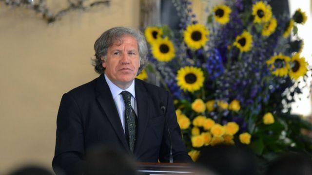 Luis Almagro en Tegucigalpa.