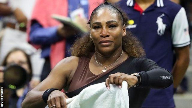Serena Williams llora.