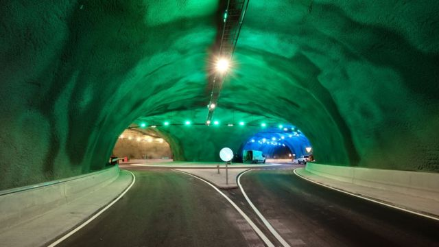 An inside view of the tunnel