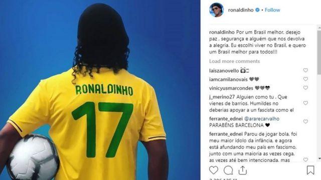 Ronaldinho's post