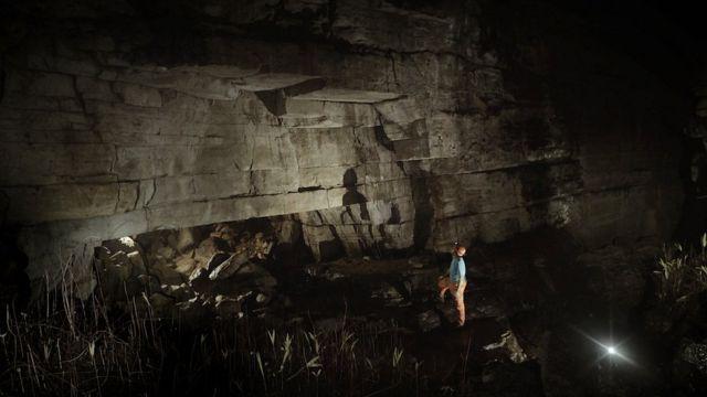 El interior de la Cueva de los Tayos Foto: Miguel Garzón