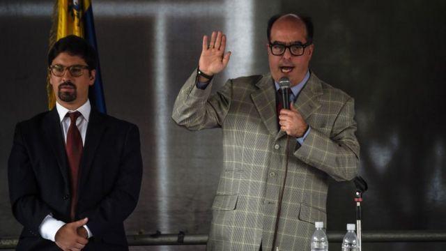 Freddy Guevara (izquierda) y Julio Borges.