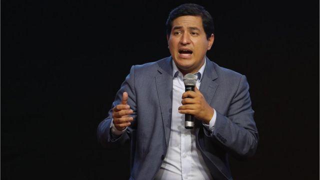 """Resultado de imagen para ecuador ndrés Arauz, candidato identificado por seguir la senda de la llamada """"Revolución Ciudadana"""","""