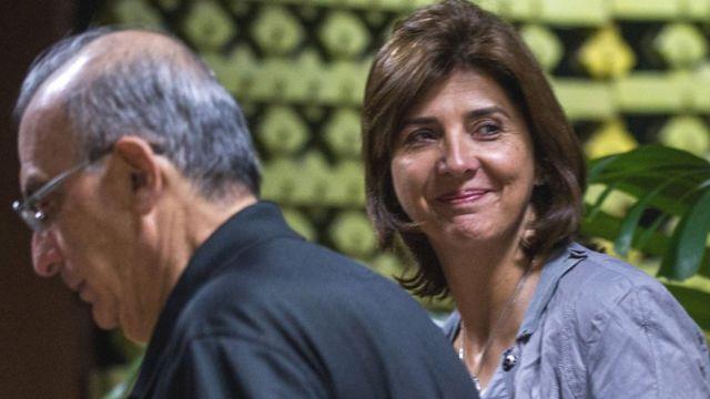 María Ángela Holguín y Humberto De la Calle.