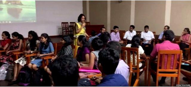 Dr Thoradeniya conducting a workshop